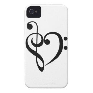 Corazón musical Case-Mate iPhone 4 cobertura