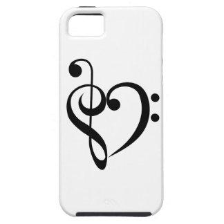 Corazón musical iPhone 5 fundas