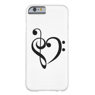 Corazón musical funda de iPhone 6 barely there