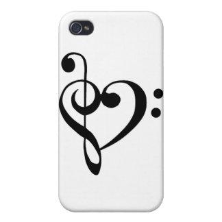 Corazón musical iPhone 4 cárcasa