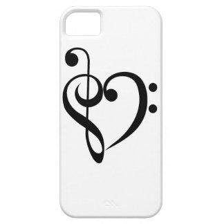 Corazón musical iPhone 5 carcasa