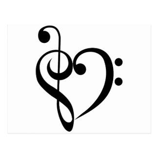 Corazón musical postal