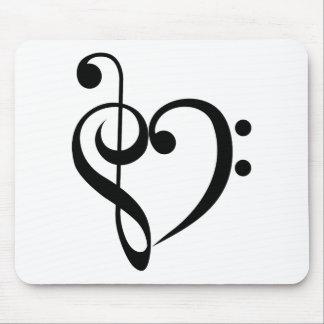 Corazón musical tapete de ratón