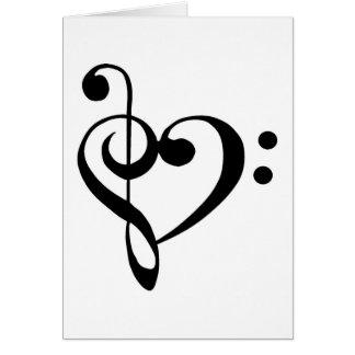 Corazón musical tarjeta de felicitación