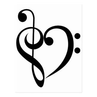 Corazón musical postales