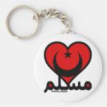 Corazón musulmán llaveros