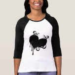 Corazón negro camisetas