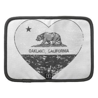 corazón negro de Oakland de la bandera de Californ Organizadores