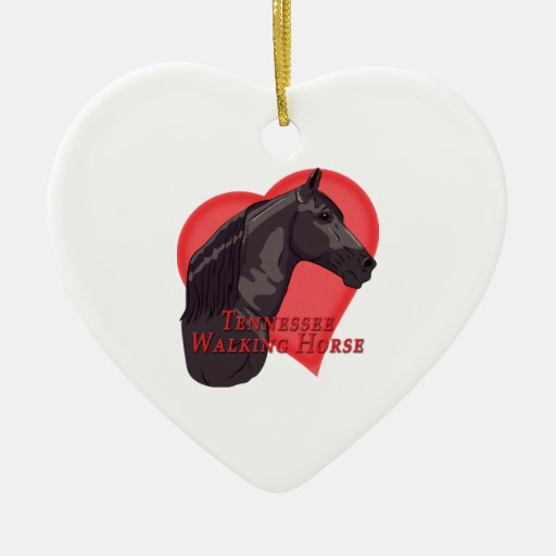 Corazón negro del caballo de Tennessee que camina Ornatos