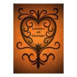 Corazón negro elegante romántico del scrollwork de