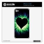 Corazón negro; Fresco iPhone 4 Skin