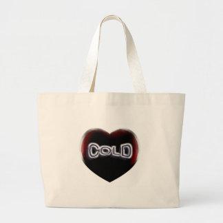 Corazón negro frío bolsa
