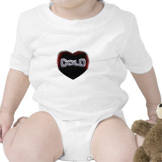 Corazón negro frío trajes de bebé
