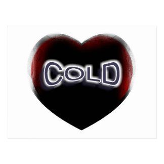 Corazón negro frío postal