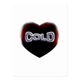 Corazón negro frío tarjeta postal