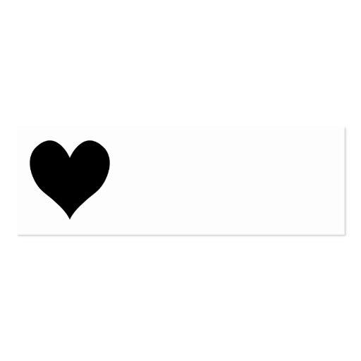 Corazón negro lindo tarjeta personal