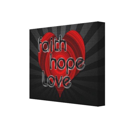 Corazón negro/rojo del amor de la esperanza de la  lona estirada galerias