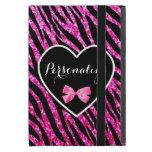 Corazón negro rosado conocido atractivo del brillo iPad mini carcasas