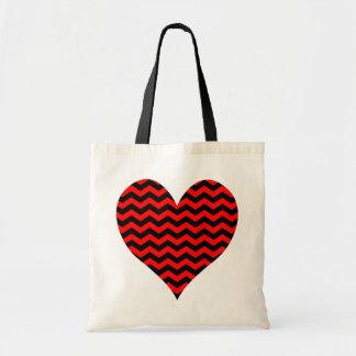 Corazón negro y rojo de Chevron
