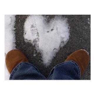 Corazón Nevado Postal