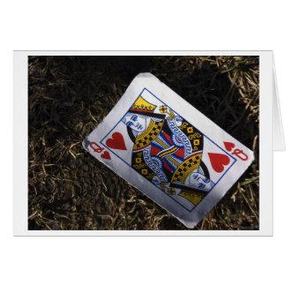 corazón ningún brezo tarjeta de felicitación
