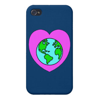 Corazón nuestro planeta iPhone 4 funda