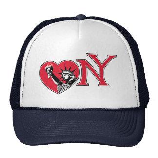 Corazón Nueva York de la libertad Gorro De Camionero