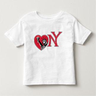 Corazón Nueva York de la libertad Playera De Bebé