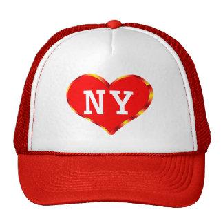 Corazón Nueva York Gorras