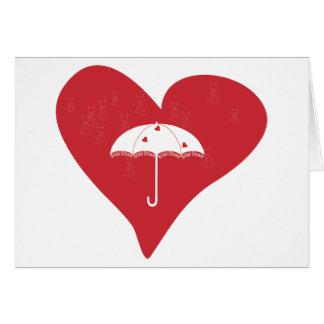 Corazón nupcial de la ducha tarjeta de felicitación