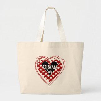 Corazón Obama 08 Bolsa De Mano