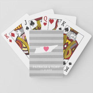 Corazón opcional del amor del estado de origen del cartas de juego