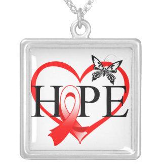 Corazón oral Décor de la mariposa de la esperanza Pendiente Personalizado