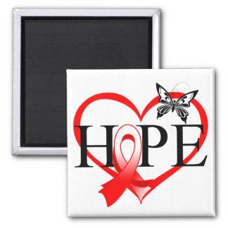 Corazón oral Décor de la mariposa de la esperanza Imán Para Frigorifico