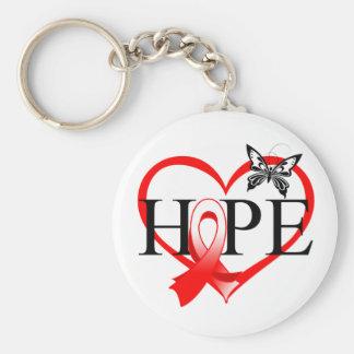 Corazón oral Décor de la mariposa de la esperanza Llaveros Personalizados