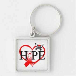 Corazón oral Décor de la mariposa de la esperanza Llavero