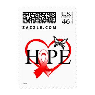 Corazón oral Décor de la mariposa de la esperanza