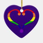 Corazón Orgullo día de San Valentín y arco iris Adorno De Reyes
