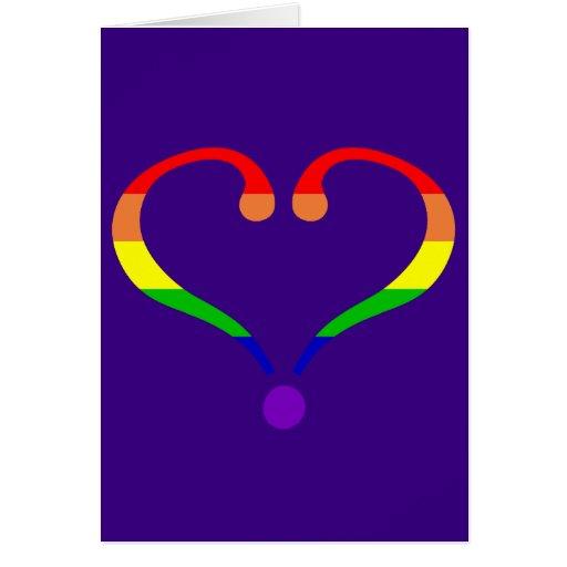 Corazón Orgullo día de San Valentín y arco iris Tarjetas