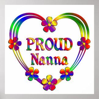 Corazón orgulloso de Nanna Póster