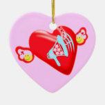 corazón Ornament♥✿εїз del vuelo del εїз✿♥Яömǻñtî¢ Ornaments Para Arbol De Navidad