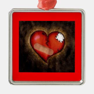 Corazón-ornamento quebrado de la reparación ornamentos para reyes magos