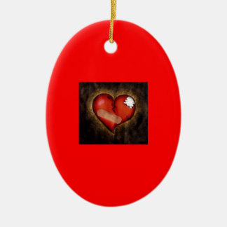 Corazón-ornamento quebrado de la reparación ornaments para arbol de navidad