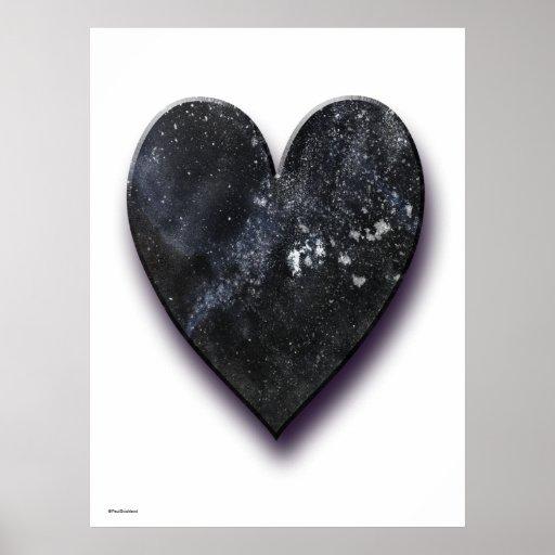 Corazón oscuro impresiones