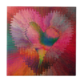 Corazón Palitations de Christine Bässler Azulejo Ceramica