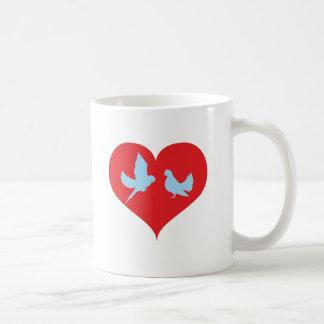 Corazón paloma heart doves taza