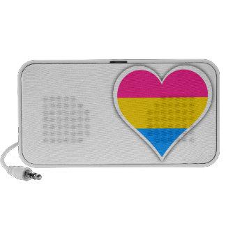 Corazón Pansexual de la bandera Mini Altavoz