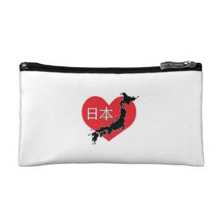 Corazón para el bolso del cosmético de Japón