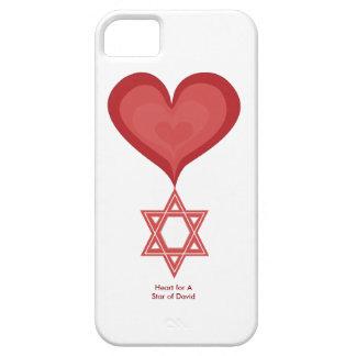 Corazón para una estrella del arte del corazón del funda para iPhone SE/5/5s
