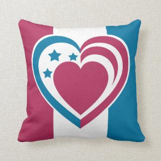 Corazón patriótico cojin